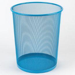 8 Units of Trash Can Mesh Metal Blue - Waste Basket