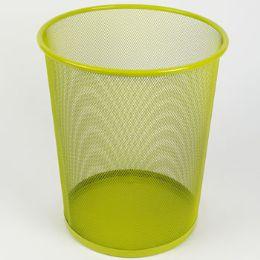 8 Units of Trash Can Mesh Metal Green - Waste Basket