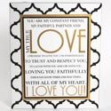 4 Units of Wall Sign Wooden True Love - Home Decor
