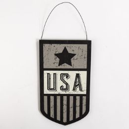 24 Units of Wall Sign Wooden Usa - Home Decor