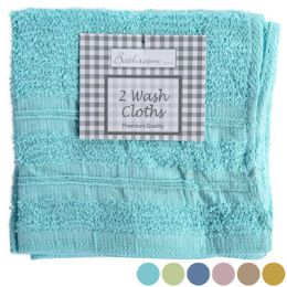 71 Units of Washcloths 2pk 12x12 6 Asst Colors - Towels