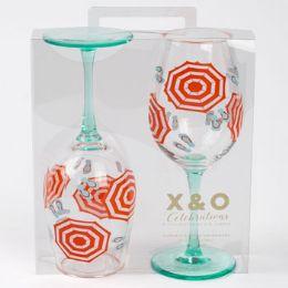 6 Units of Wine Stem Acrylic Set Of 2 Umbrella - Home Accessories