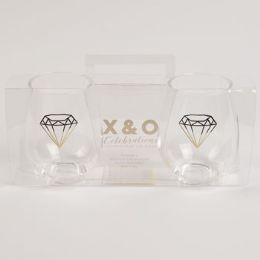 6 Units of Wine Stemless Acrylic Clear Set Of 2 Odyssey - Home Accessories