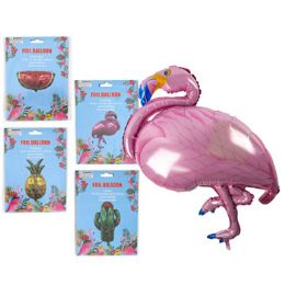 48 Units of Balloon Foil 4 Assorted Summer Theme Flamingo - Balloons & Balloon Holder