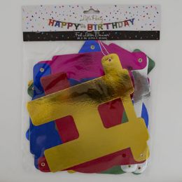 24 Units of Banner Birthday Jumbo Jointed Foil Party - Party Banners