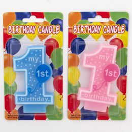 36 Units of Birthday Candle My First - Birthday Candles