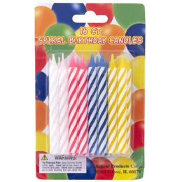 72 Units of Birthday Candles Spiral Assorted Color - Birthday Candles