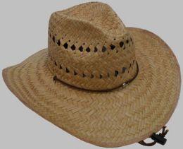 25 Units of Men's Straw Cowboy Hat - Cowboy & Boonie Hat