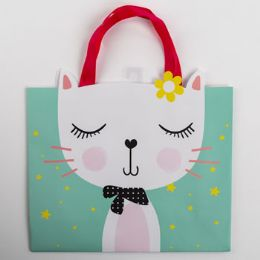 60 Units of Gift Bag Large Vogue Embellished Cat - Gift Bags Everyday