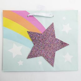 60 Units of Gift Bag Large Vogue Embellish Glitter Star - Gift Bags Everyday