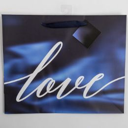 60 Units of Gift Bag Large Vogue Embellished Satin Love - Gift Bags Everyday
