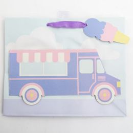 60 Units of Gift Bag Large Vogue Embellished Ice Cream Truck - Gift Bags Everyday
