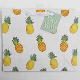 60 Units of Gift Bag Large Vogue Embellished Pineapple - Gift Bags Everyday