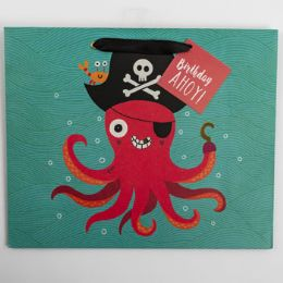 60 Units of Gift Bag Large Vogue Embellished Pirate - Gift Bags Everyday