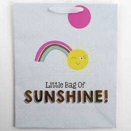 60 Units of Gift Bag Large Vogue Embellished Sunshine - Gift Bags Everyday