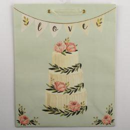 60 Units of Gift Bag Large Cub Embellished Wedding Cake - Gift Bags Everyday