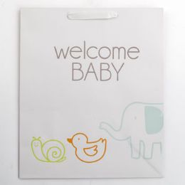 60 Units of Gift Bag Large Cub Embellished Welcome Baby - Gift Bags Everyday