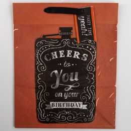 60 Units of Gift Bag Large Cub Embellished Cheers To You - Gift Bags Everyday
