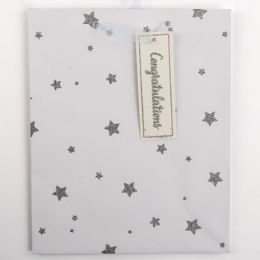 60 Units of Gift Bag Large Cub Embellished Glitter Stars - Gift Bags Everyday