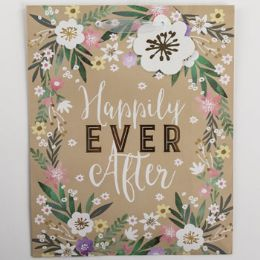 60 Units of Gift Bag Large Cub Embellished Happily Ever After - Gift Bags Everyday