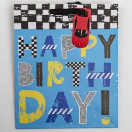 60 Units of Gift Bag Large Cub Embellished Happy Birthday - Gift Bags Everyday