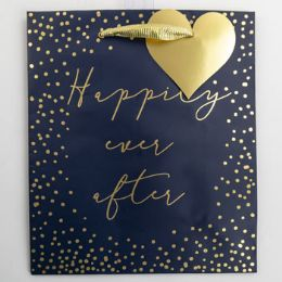 60 Units of Gift Bag Cub Embellished Happily Ever After - Gift Bags Everyday