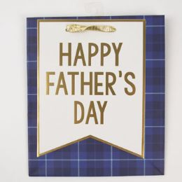 60 Units of Gift Bag Cub Embellished Navy Fathers Day - Gift Bags Everyday