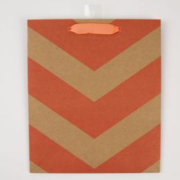 60 Units of Gift Bag Cub Embellished Neon Kraft Chevron - Gift Bags Everyday