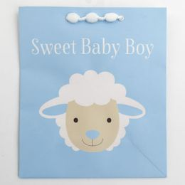 60 Units of Gift Bag Cub Embellished Sweet Baby Boy Lamb - Gift Bags Everyday
