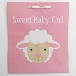 60 Units of Gift Bag Cub Embellished Sweet Baby Girl Lamb - Gift Bags Everyday