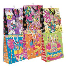 72 Units of Gift Bag Birthday Girl Sweets - Gift Bags Everyday