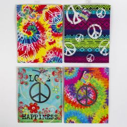 72 Units of Gift Bag Paper Tie Dye Peace - Gift Bags Everyday