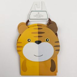 60 Units of Gift Bags Petite Cub Embellished Tiger - Gift Bags Everyday