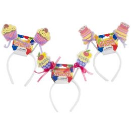 48 Units of Headband Birthday Cakes - Party Hats & Tiara