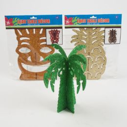 24 Units of Luau Glitter Table Decor - Party Center Pieces