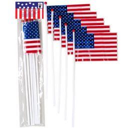 72 Units of Flag American Mini Plastic - Seasonal Items