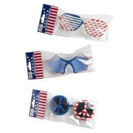 48 Units of Patriotic Glasses Assorted - Seasonal Items