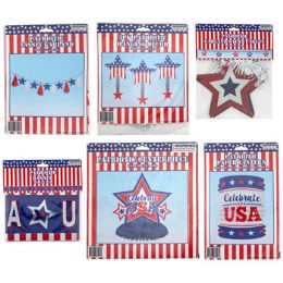 48 Units of Patriotic Party Decor - Seasonal Items