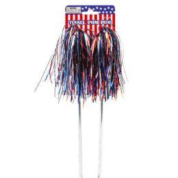 36 Units of Pom Pom Tinsel Two Pack Patriotic Parade - Seasonal Items