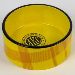 8 Units of Pet Bowl Yellow Plaid - Pet Supplies