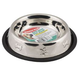 36 Units of Pet Bowl Stainless Steel 16 Oz 2 Cup AntI-Skid 150g 6.10 X 8.26 Paw/bone Embossed - Pet Supplies