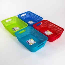 48 Units of Basket Rectangular 4 Colors - Baskets