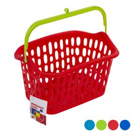 36 Units of Basket With Plastic Handle And Hook 3 Colors - Storage & Organization