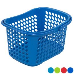 36 Units of Basket With Folding Handles 4 Colors - Storage & Organization