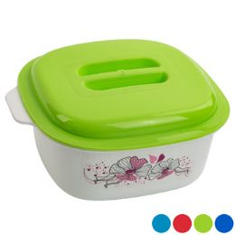 48 Units of Food Server Floral Dome Lid Grip Handle Lids - Food Storage Containers