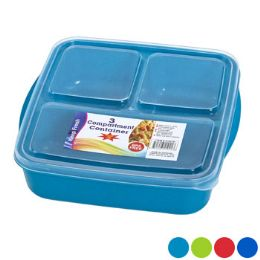 48 Units of Food Storage 3 Compartment Square - Food Storage Containers