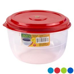 48 Units of Food Storage Container 4 Lid Colors Clear Bottom - Food Storage Containers