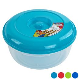 36 Units of Food Storage Container 4 Colors Lid Colors Clear Bottom - Food Storage Containers