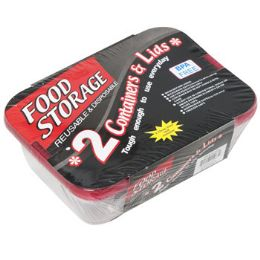 24 Units of Food Storage Container 2 Pack Disposable - Food Storage Containers