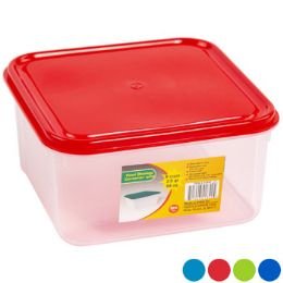 48 Units of Food Storage Container Square Air Tight With 4 Lid Colors Clear Bottom - Food Storage Containers